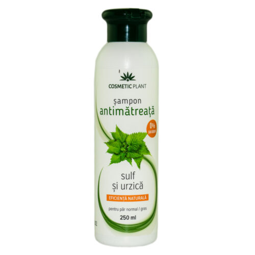 SAMPON ANTIMATREATA CU URZICA SI SULF 250ml COSMETIC PLANT