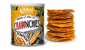 Chips Crawnchies cu dovleac si turmeric raw eco 30g