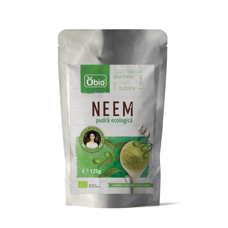 Neem pulbere raw eco 125g