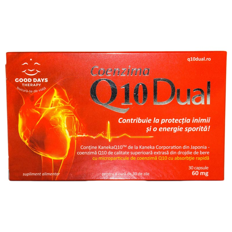 COENZIMA Q10 DUAL 60mg 30cps GOOD DAYS THERAPY