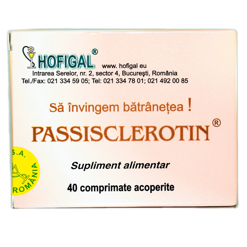 PASSISCLEROTIN 40cpr HOFIGAL