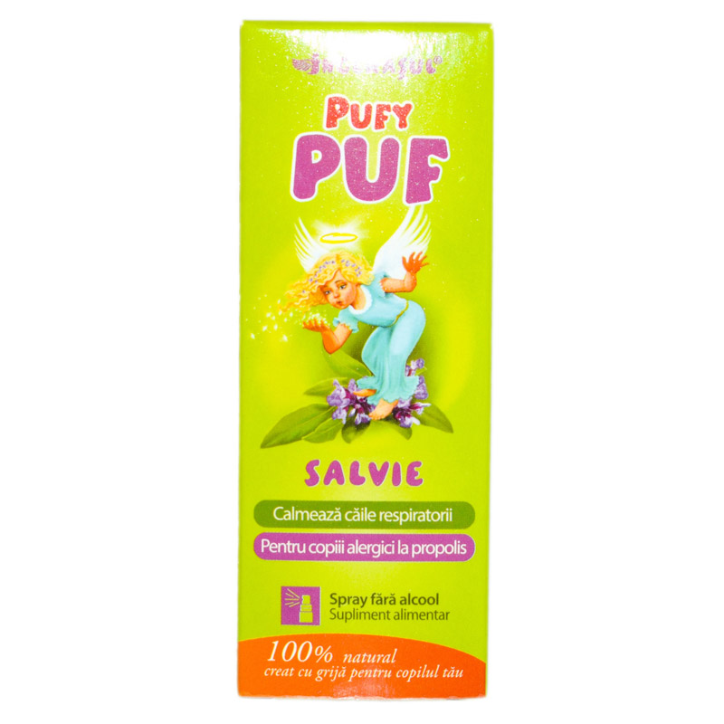 "SALVIE ""PUFY PUF"" FARA ALCOOL (spray) 20ml DACIA PLANT"