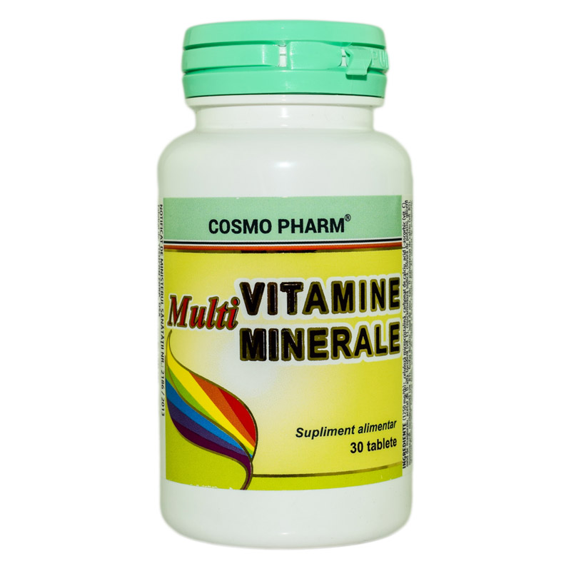 MULTIVITAMINE SI MULTIMINERALE 30tb COSMOPHARM