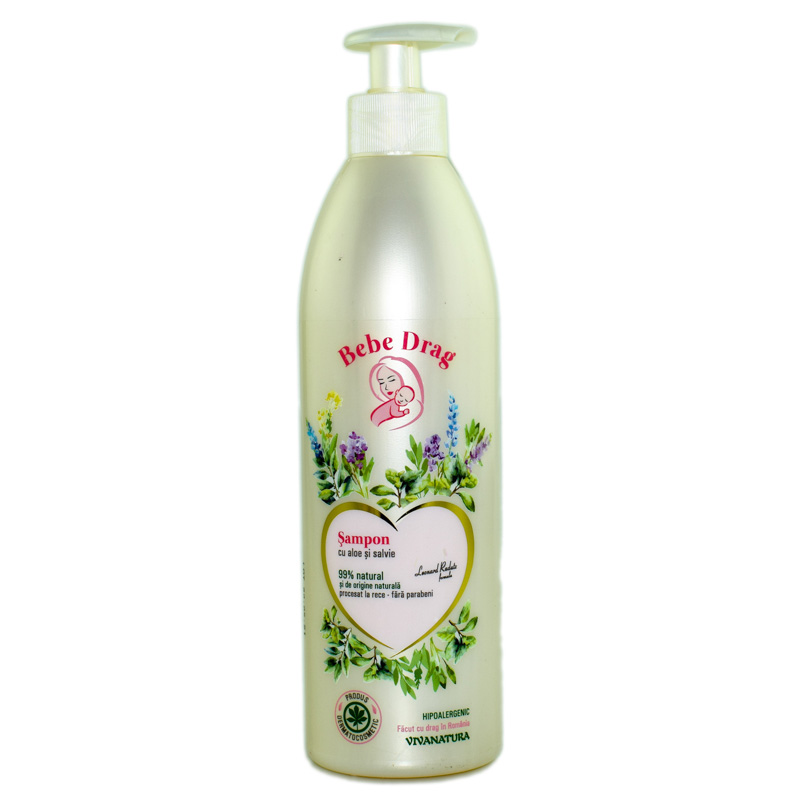 "SAMPON ""BEBE DRAG"" CU ALOE SI SALVIE 500ml GENNA"