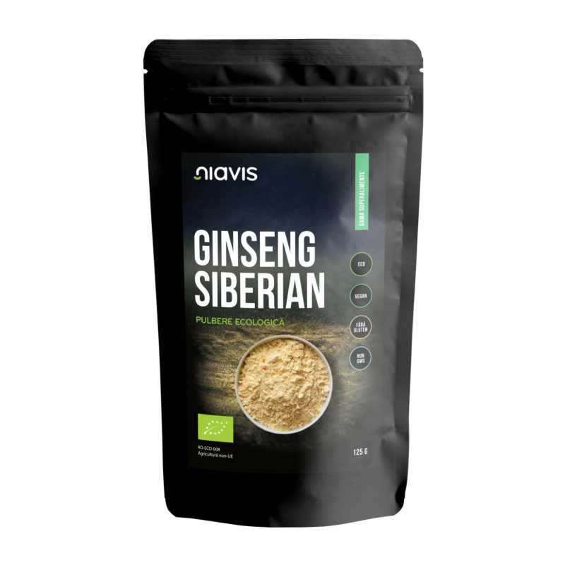 Ginseng Siberian Pulbere Ecologica/Bio 125g