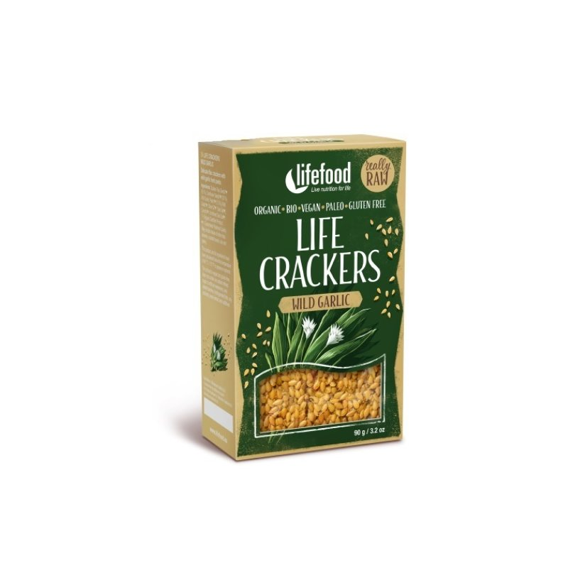 Crackers din in cu leurda raw eco 90g