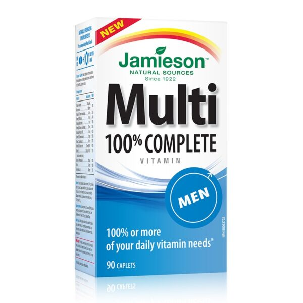 JAMIESON MULTI 100% COMLET VITAMIN BARBATI 90cpr GREEN NET
