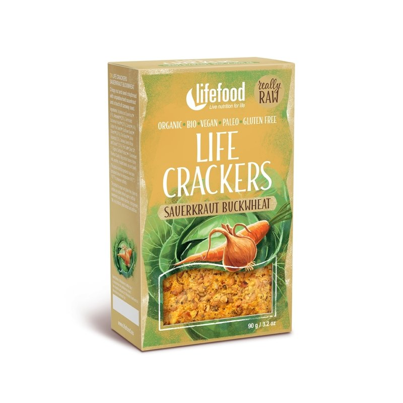 LIFECRACKERS cu varza murata raw eco 90g